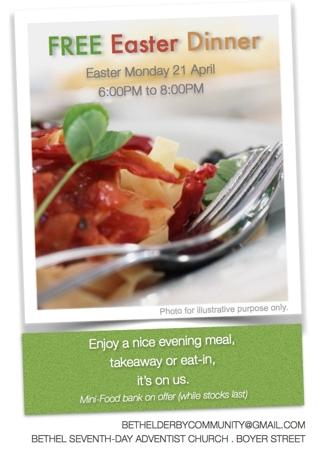 FREE EASTER DINNER INVITE